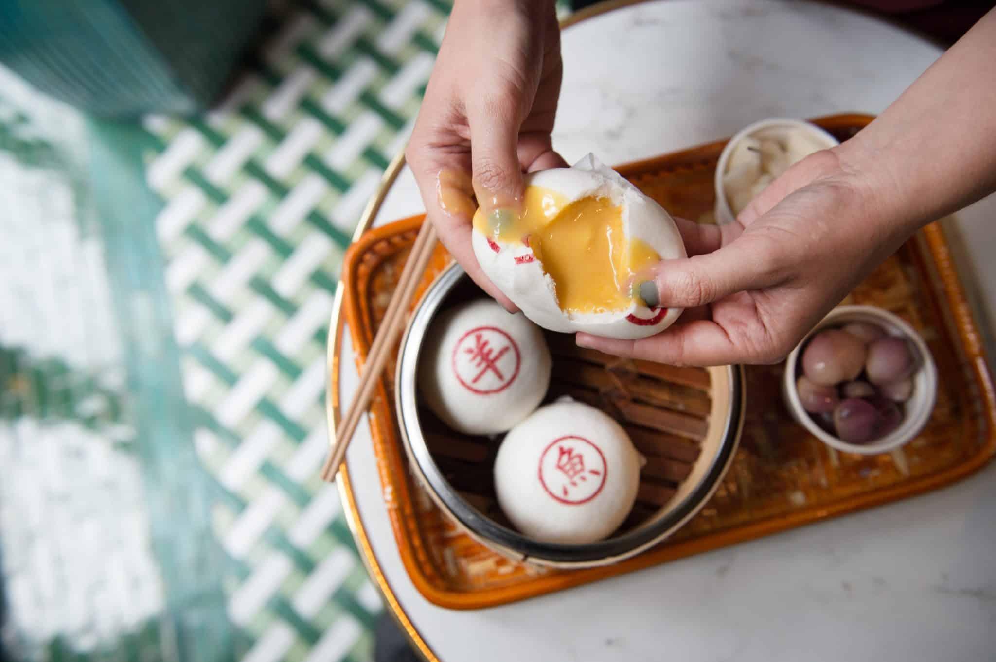 Chinatown Street Food Bun House Custard Bun