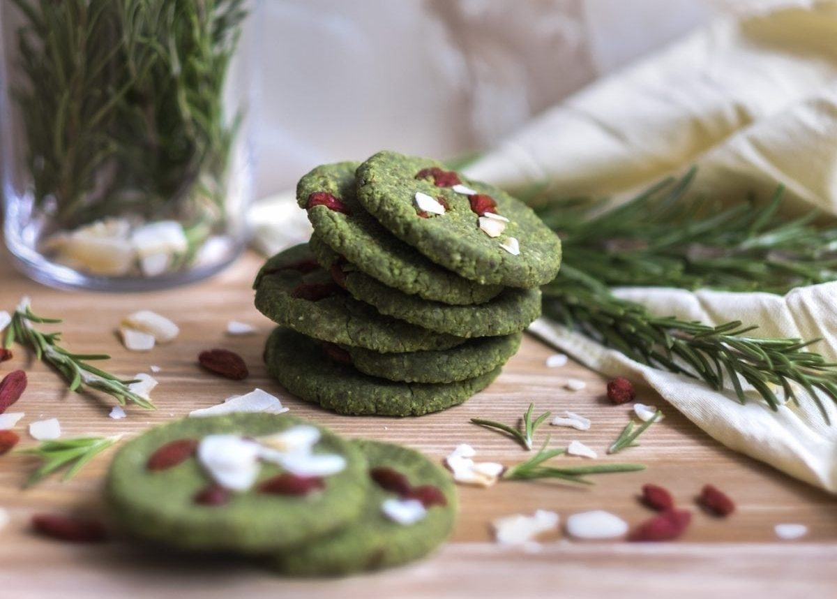 Almond and Matcha Cookies