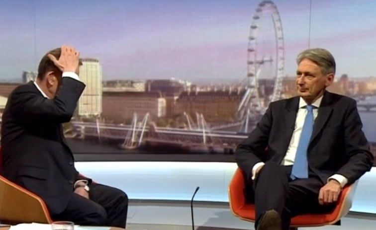 Philip Hammond forgets unemployment figures live on Marr