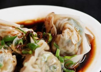 Chicken dumplings (with vinegar and chili oil) Credit Rasa Sayang Chinatown