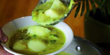 Keith on Food - vegan Leek potato soup