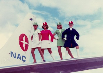 NAC got new 'Lollipop' uniforms and later merged with Air New Zealand