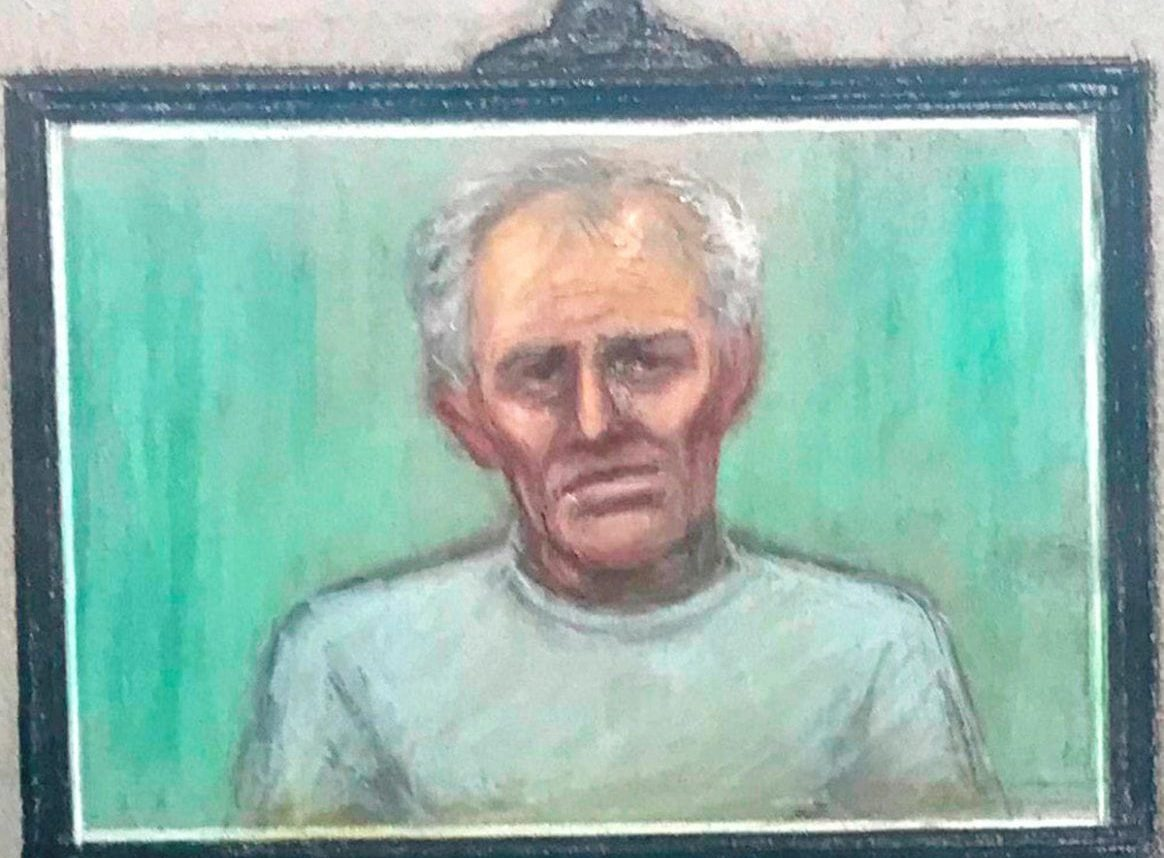 ***TV OUT***Ex-football coach Barry Bennell appearing via videolink has been found guilty by jury at Liverpool Crown Court of multiple sex offences against boys in the 1980s. Bennell, 64, was convicted of 36 charges including indecent assault and serious sexual assaults against boys aged eight to 15. February 13 2018.