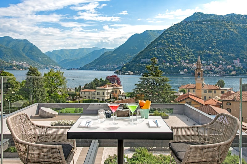 Terrace at Hilton Lake Como