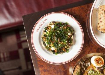 Brigadiers Wood Fired Mushroom Methi Malai Naan - best new restaurants