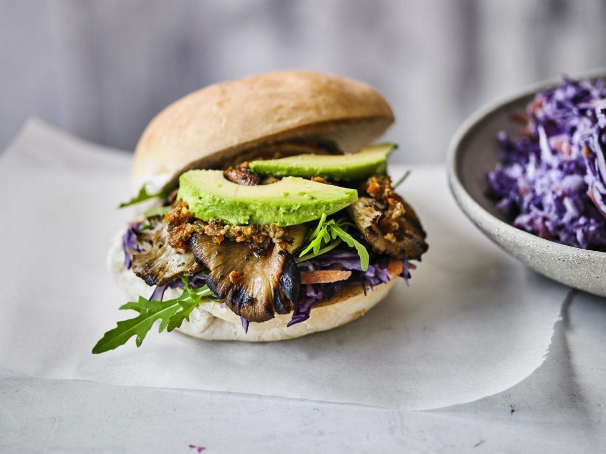 Vegan Mushroom Burgers Vegan Coleslaw National Burger Day