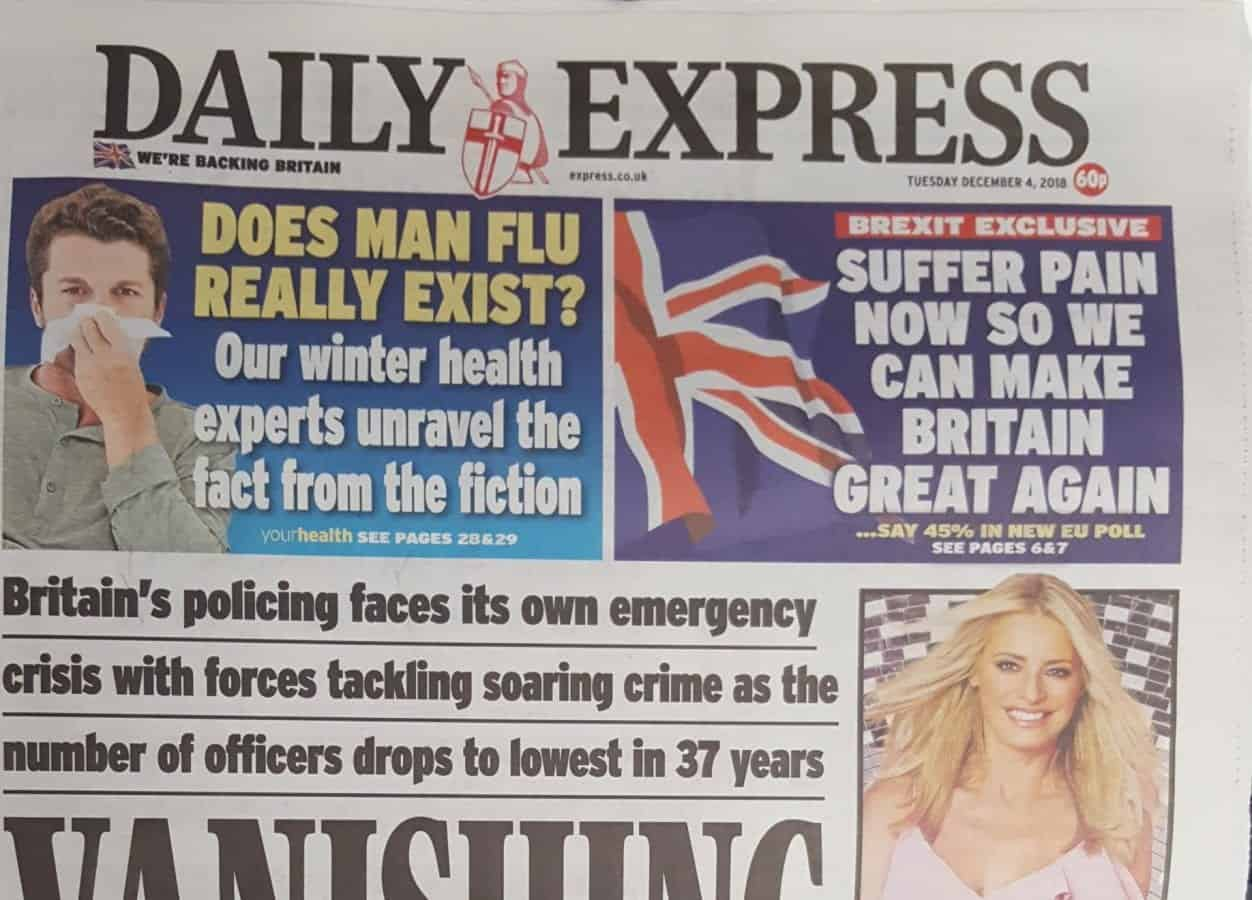 Daily Express switches Brexit position from boom to bust