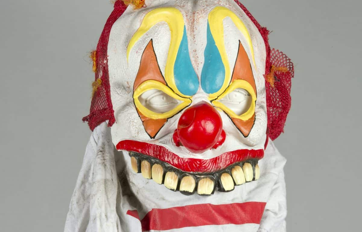 Clown mask worn by the gang Credit: SWNS