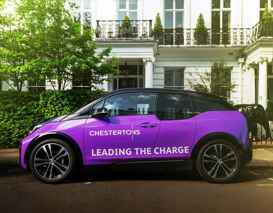 Chestertons branded all-electic BMW i3 - TLE