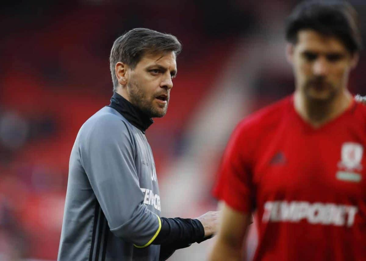 FILE PHOTO: Britain Soccer Football - Middlesbrough v Sunderland - Premier League - The Riverside Stadium - 26/4/17 Middlesbrough first team coach Jonathan Woodgate during the warm up before the match  Reuters / Phil Noble Livepic