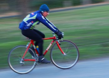 A general view of someone keeping themselves fit and healthy by cycling in the country. Credit;PA