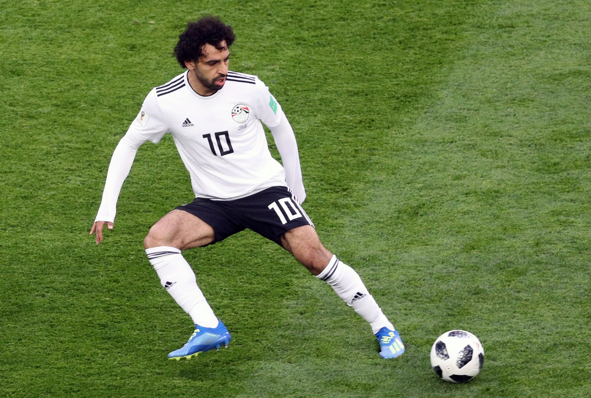 Egypt's Mohamed Salah during the FIFA World Cup 2018, Group A match at Saint Petersburg Stadium.
