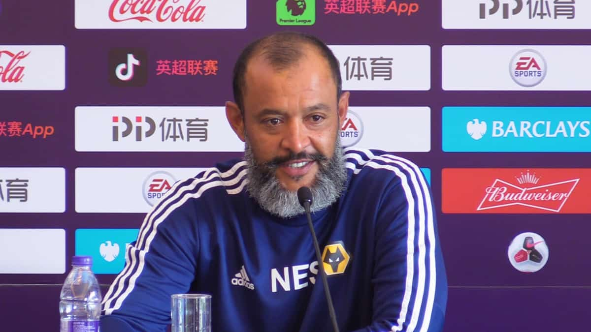 Wolverhampton Wanderers manager Nuno Espirito Santo during a press conference ahead of the Premier League Asia Trophy in Shanghai, China.