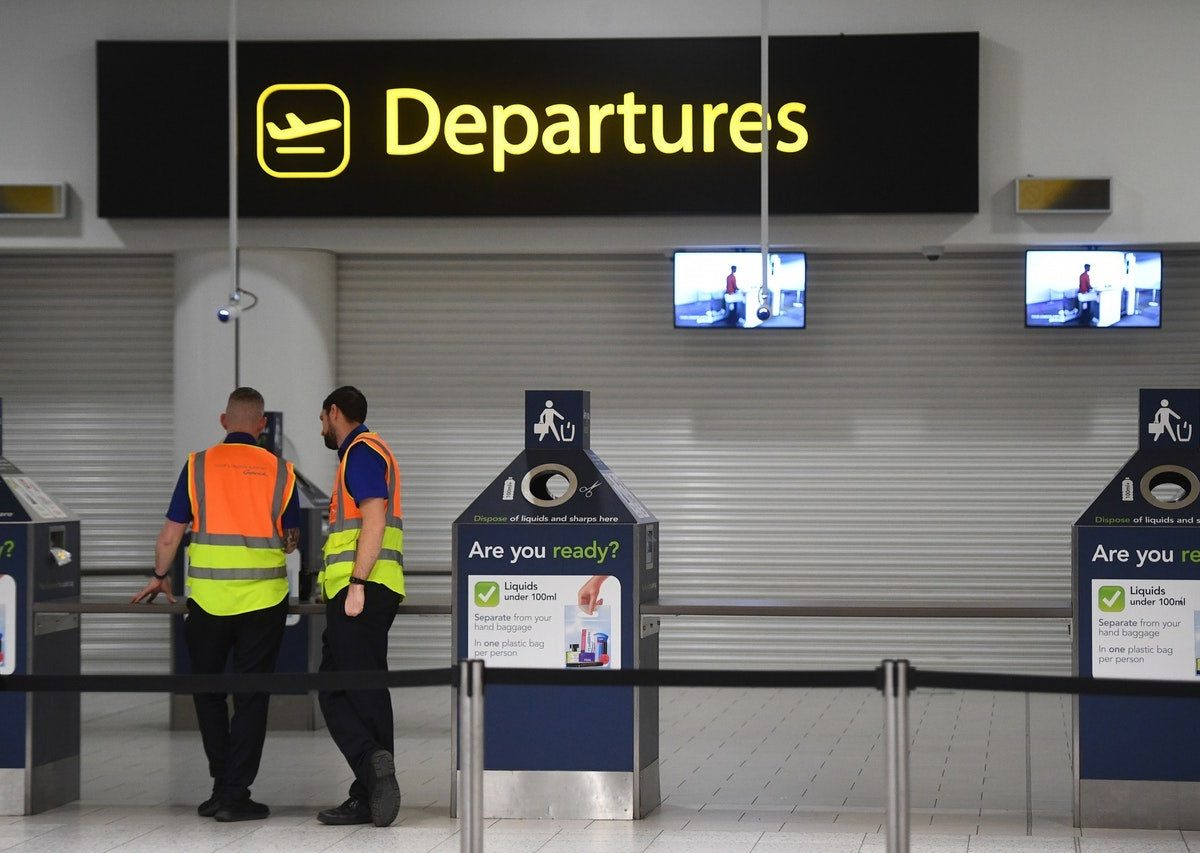 Mr Allan's flight was cancelled as he tried to get back to Scotland (Victoria Jones/PA)
