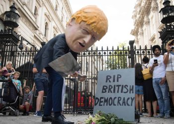 Downing Street demonstration against Boris Johnson