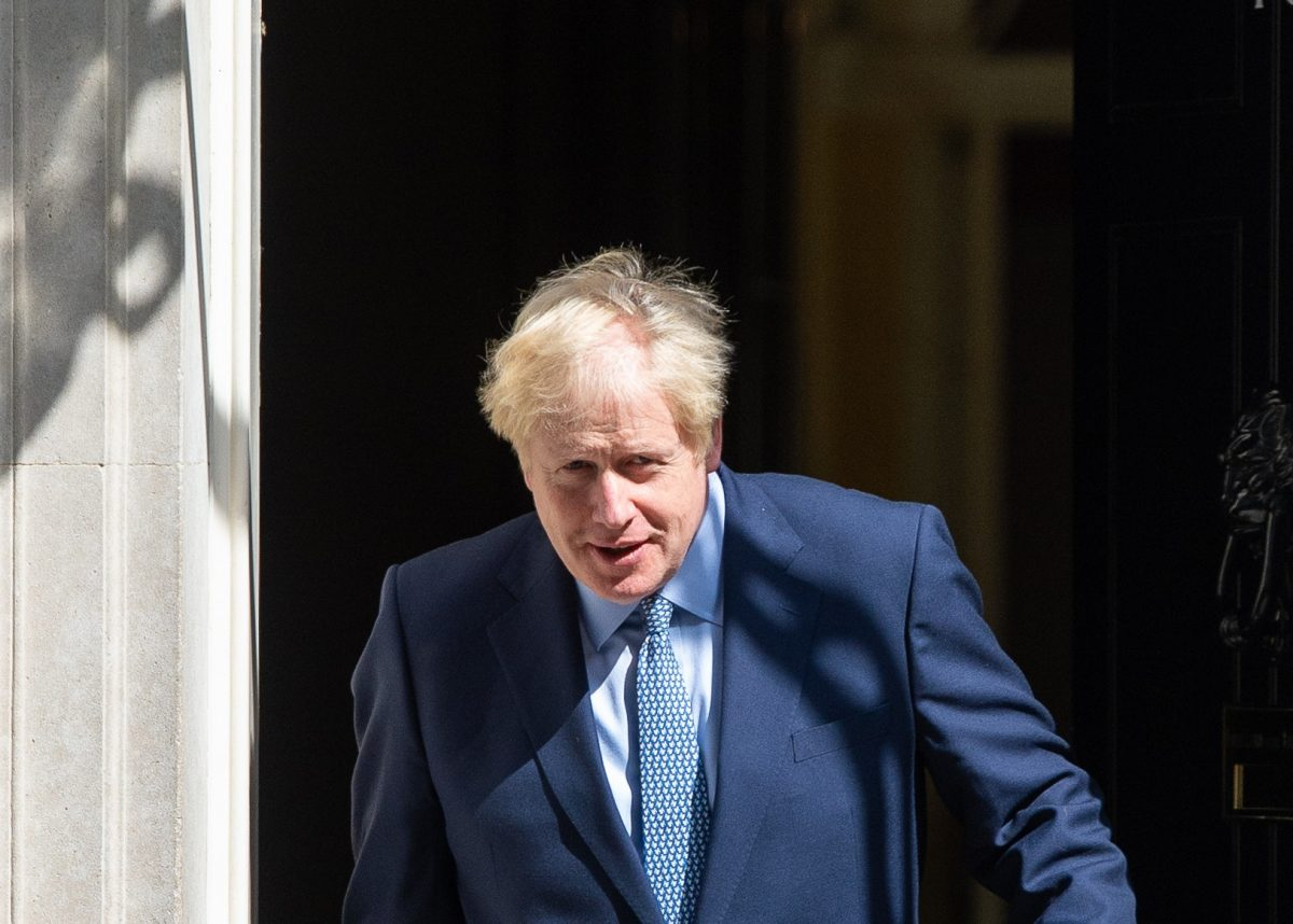 Boris Johnson exits Number 10 (PA)