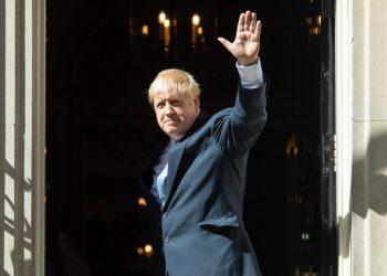 Boris Johnson outside Number 10 Downing Street (PA)