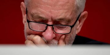 pensive Jeremy Corbyn