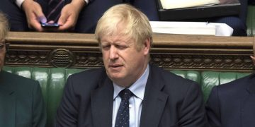 Boris Johnson in House of Commons Parliament