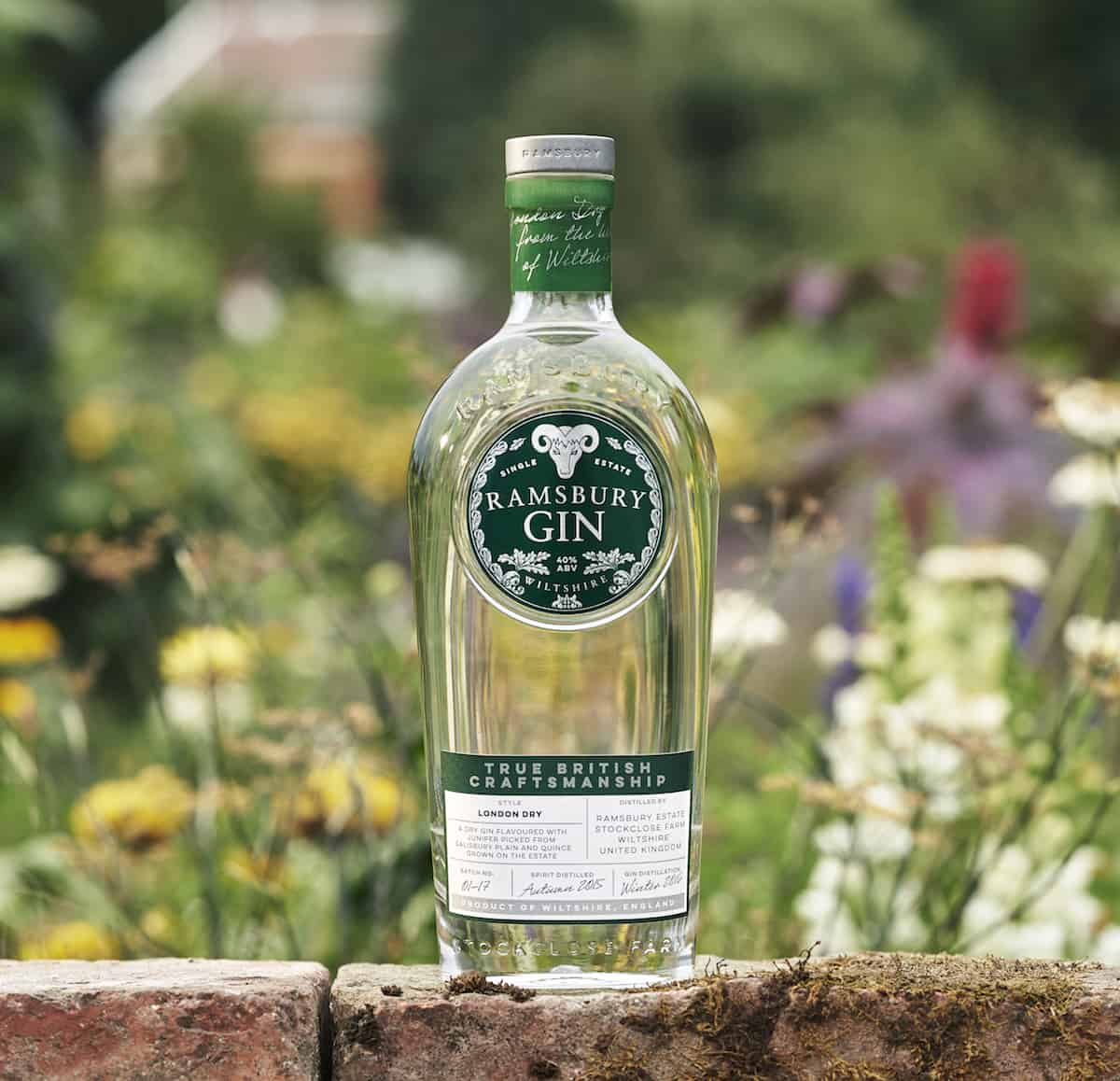 Ramsbury Gin Bottle in nature