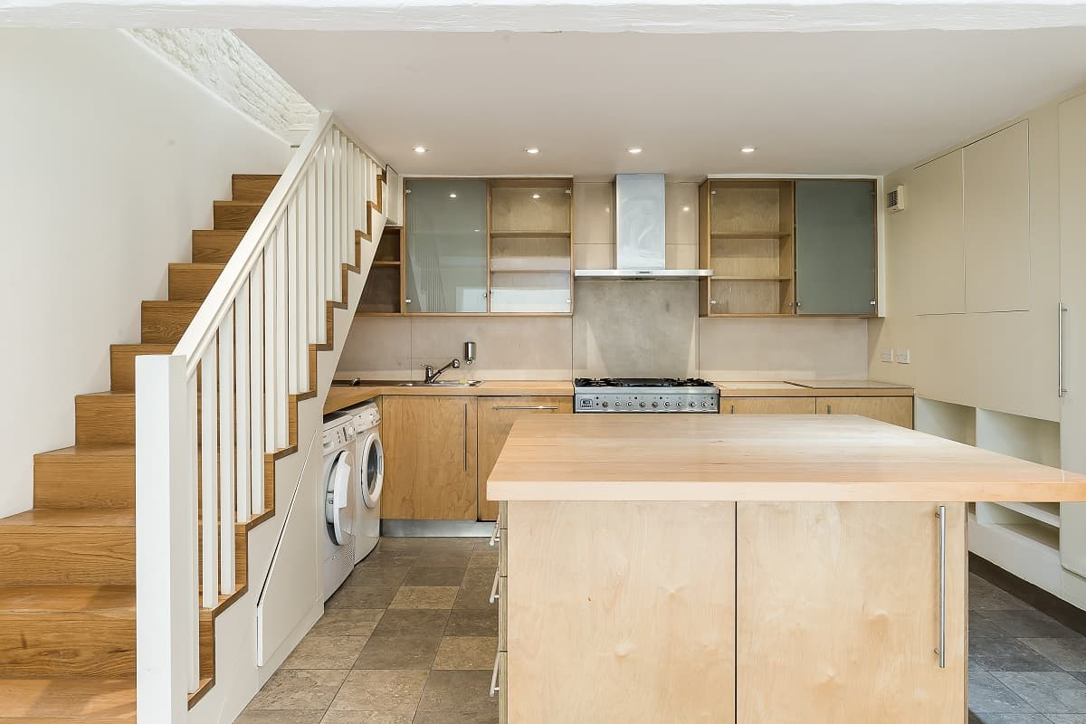 Kitchen, Alex James' former home in Covent Garden