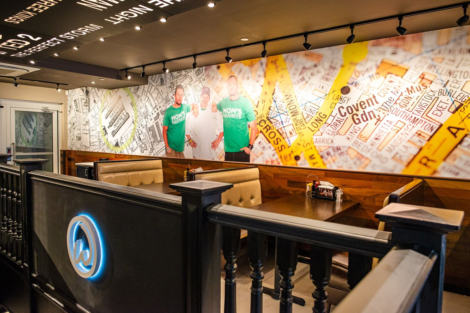 Wahlburgers interior Wahlberg brothers