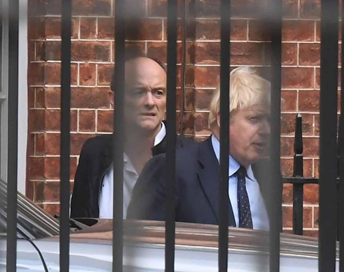Dominic Cummings and Boris Johnson (PA)