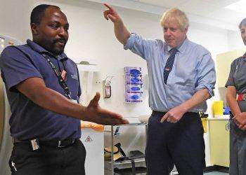Boris Johnson hospital visit