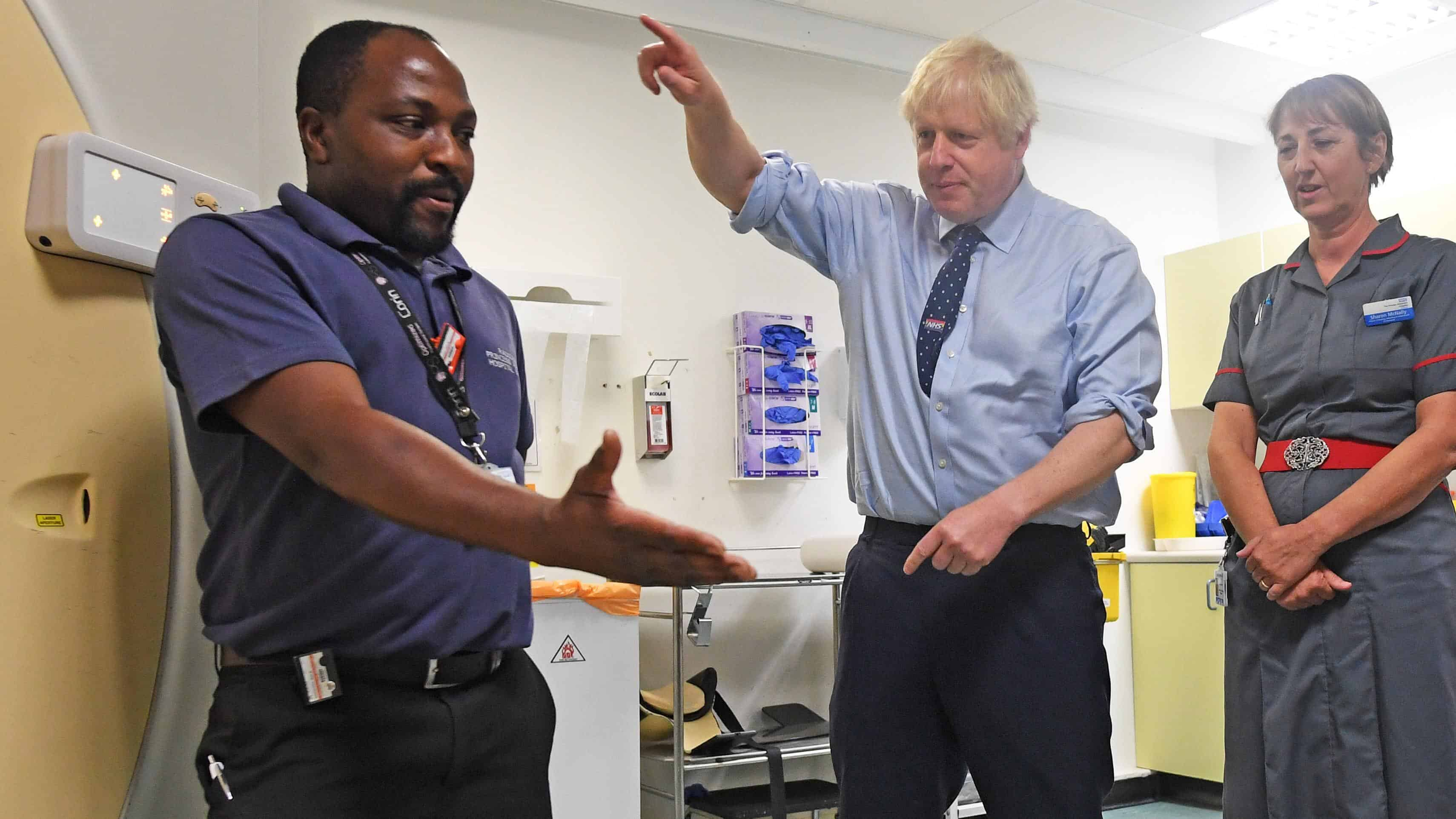 Boris Johnson hospital visit