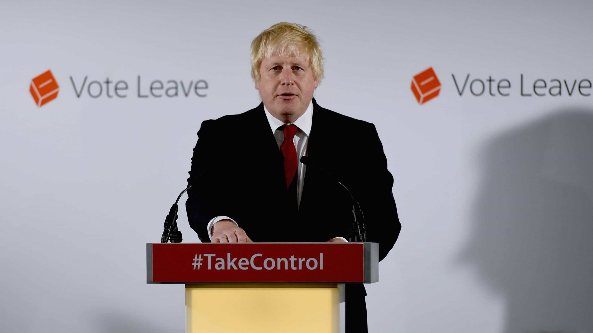 Boris Johnson campaigning for Vote Leave (PA)