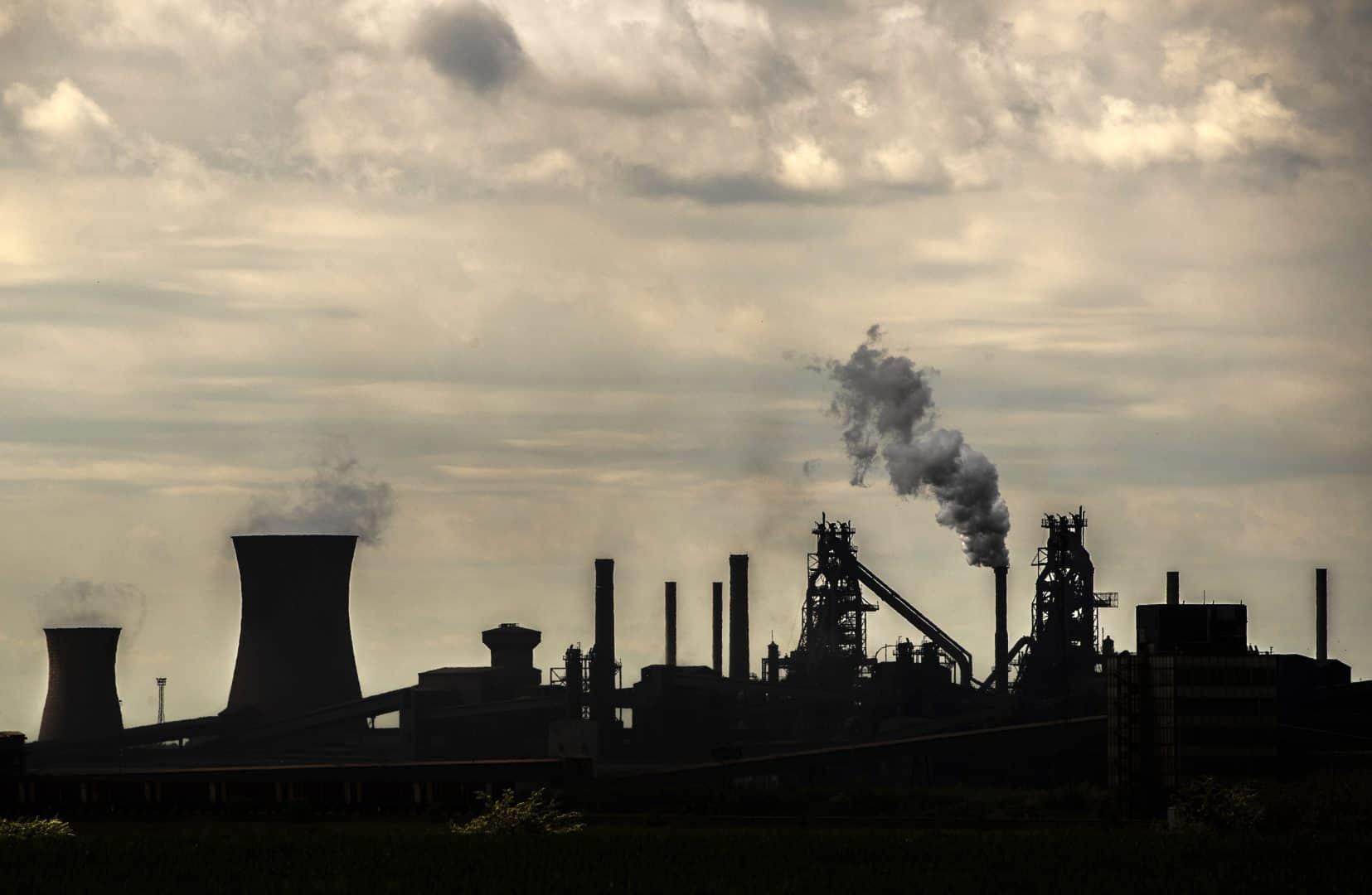 British steel manufacturing plant