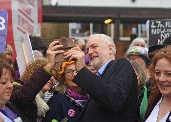 Jeremy Corbyn on campaign trail (PA)