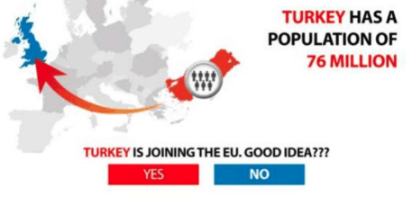 Vote Leave Facebook ad Turkey