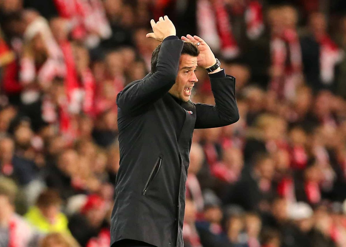 Everton manager Marco Silva during the Premier League match at St Mary's Stadium, Southampton.