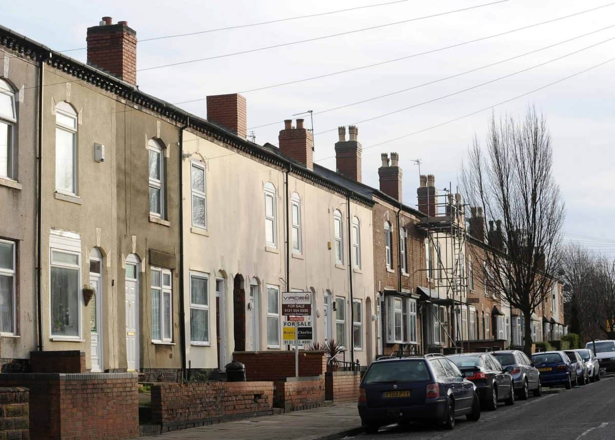 James Turner Street in Birmingham, where residents appeared in the controversial Channel 4 series Benefits Street (Joe Giddens/PA)