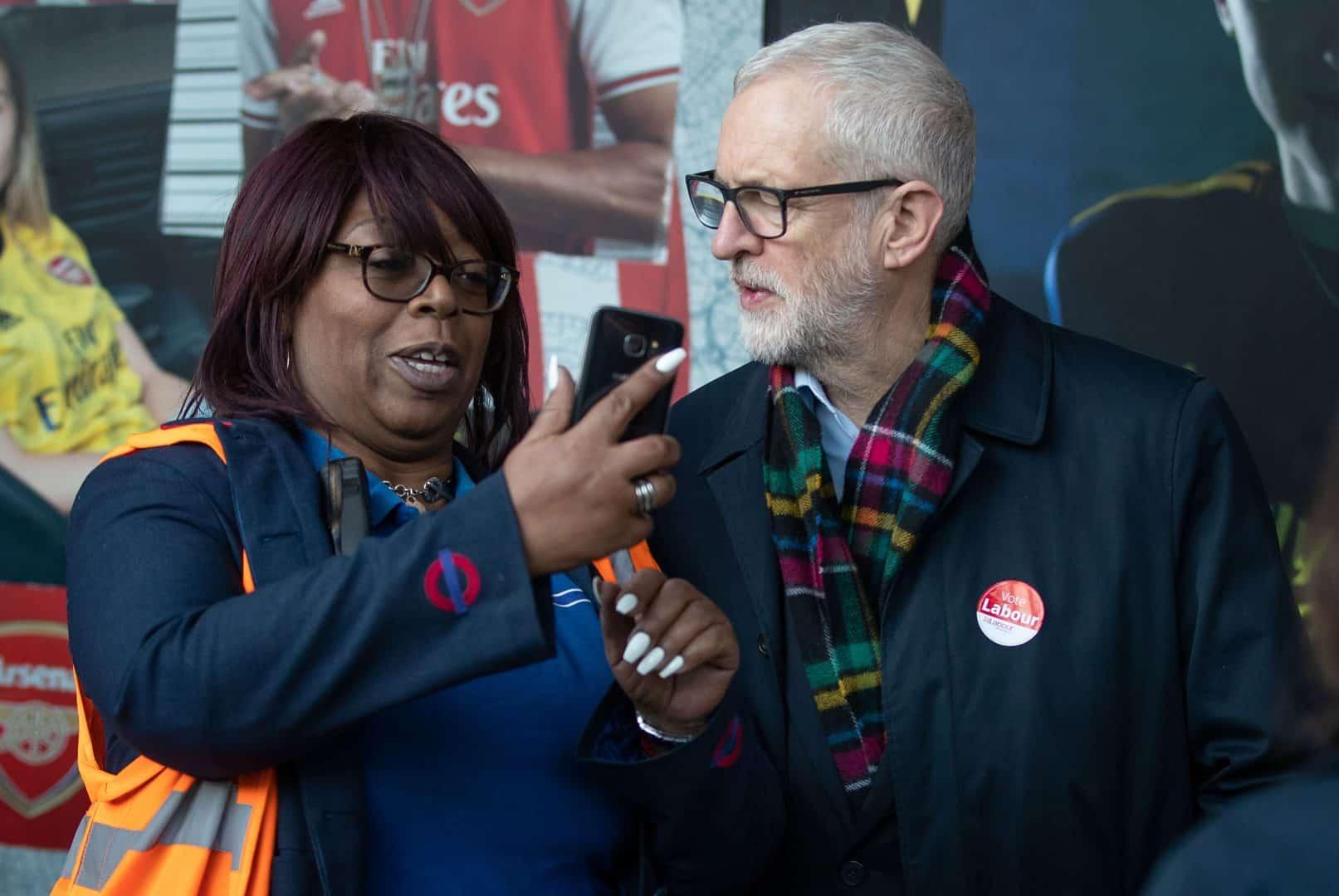 Jeremy Corbyn receives warm reception on cold morning at Finsbury Park Station (PA)