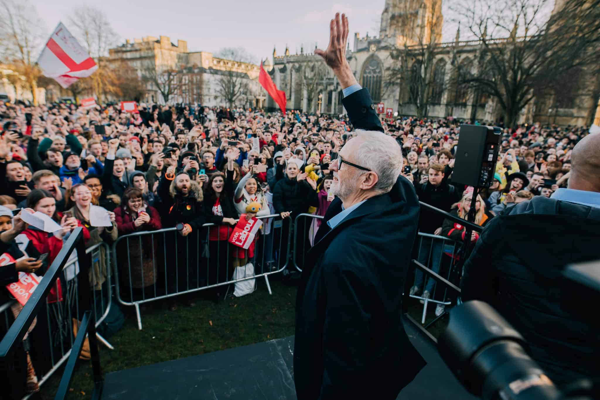 Corbyn pokes fun at Johnson for 'hiding in fridge' to avoid interview