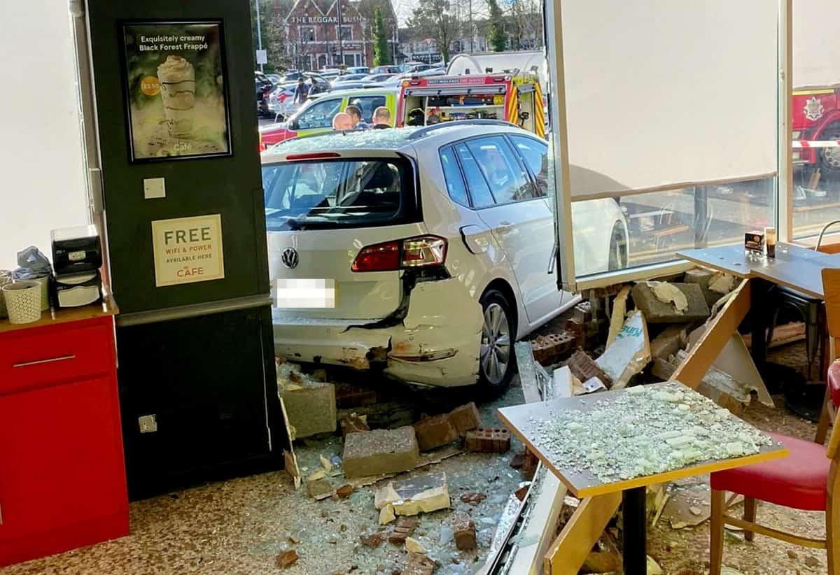 Elderly driver reverses through window of Tesco cafe ...