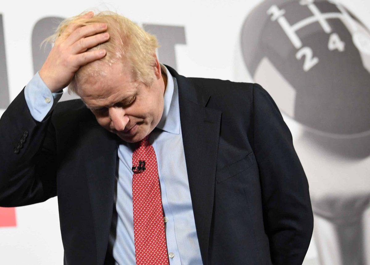 sad Boris Johnson