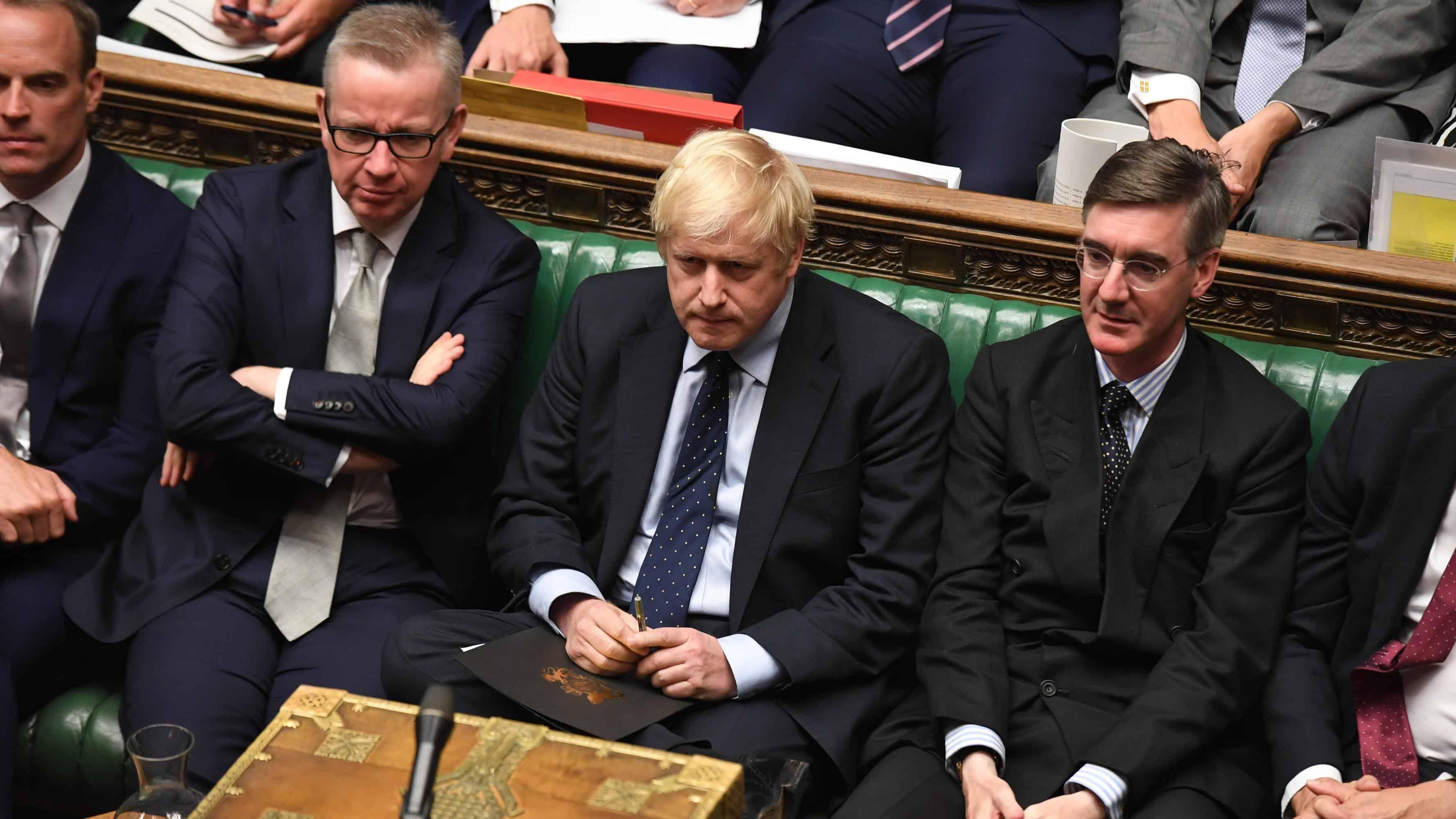 Gove, Johnson, Raab and Rees-Mogg
