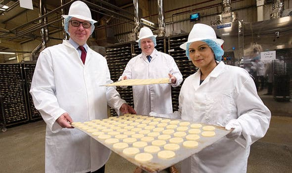 Boris Johnson, Priti Patel & Michael Gove make biscuits (PA)