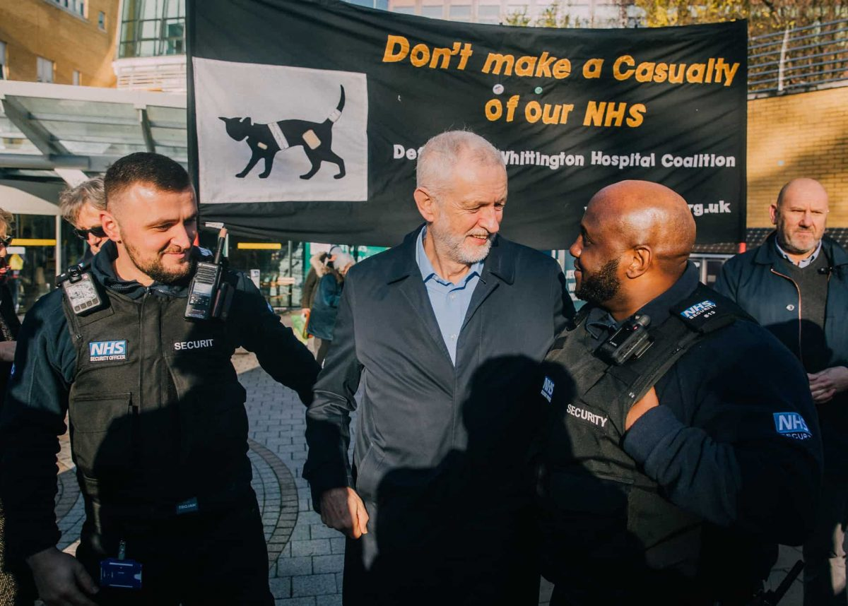Jeremy Corbyn defending NHS (Labour)