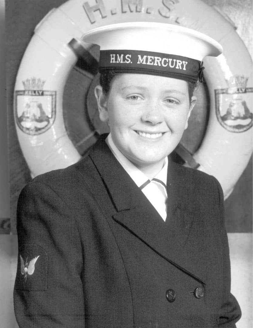 Emma Riley during her naval service in the early 90s (Royal British Legion Handout /PA)