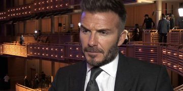 Screen grabbed image taken from PA Video of David Beckham speaking to PA Sport during a press conference at The Adrienne Arsht Center, Miami.