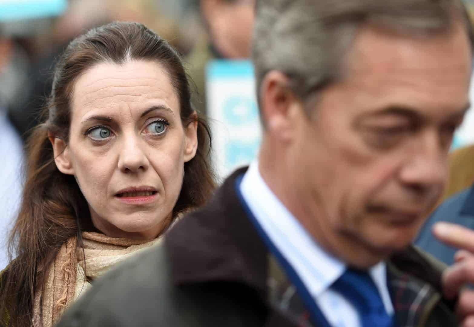 Annunziata Rees-Mogg and Nigel Farage (PA)