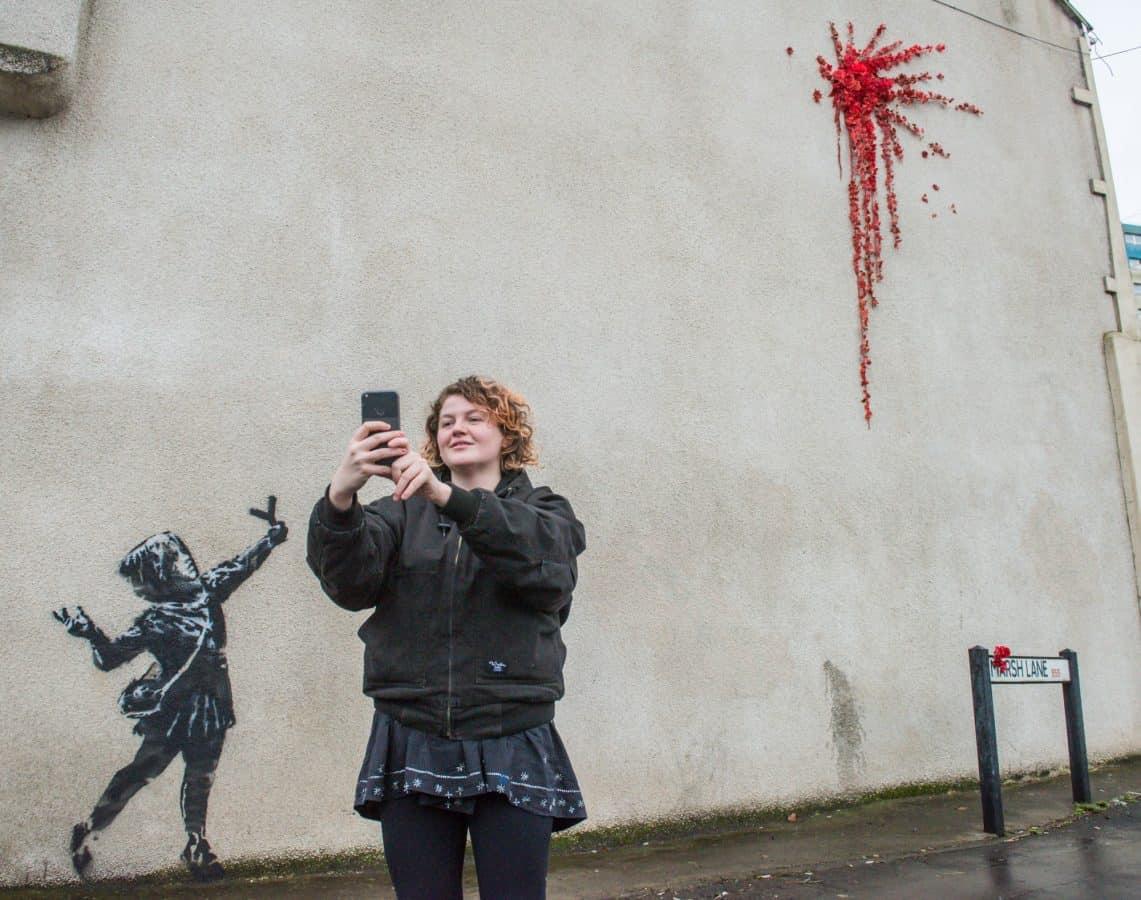 Valentine's Day Banksy artwork ruined by vandals