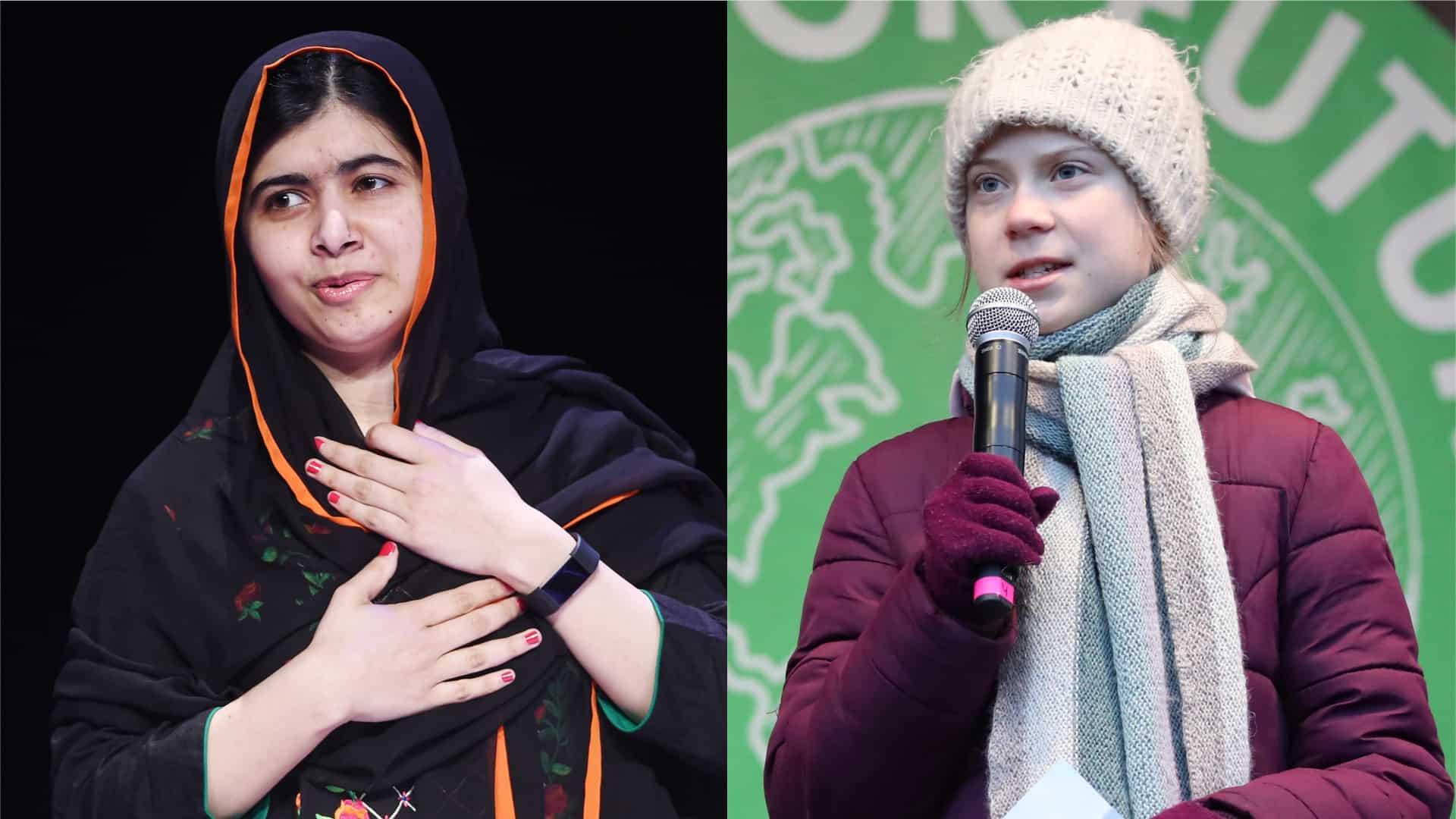 Greta Thunberg meets Malala Yousafzai for the first time