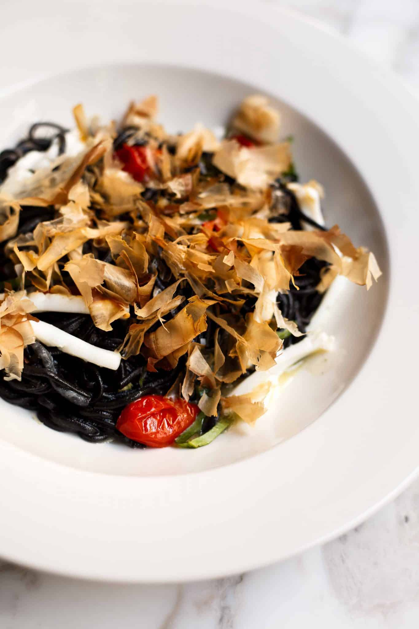 Bancon Golden Square squid ink tagliolini | Photo: Jade Nina Sarkhel