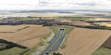 Undated handout artists impression issued by Highways England of how the southern portal of the Lower Thames Crossing, in Kent will look, as plans for a new multi-million pound road tunnel beneath the Thames have been updated, to boost capacity.