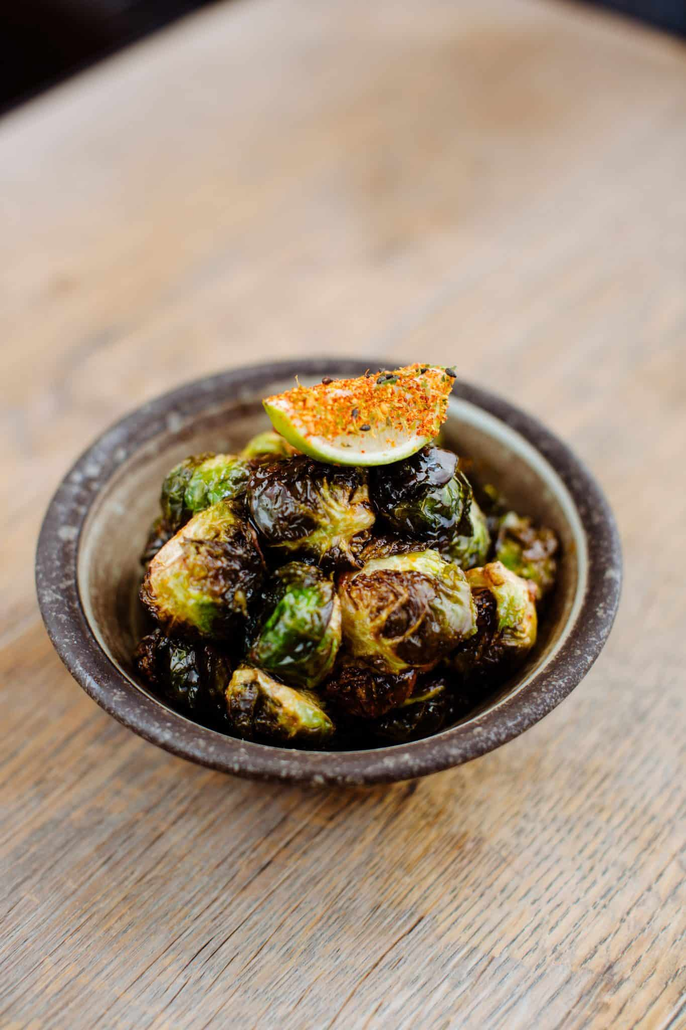 Pacific kimchi brussel sprouts